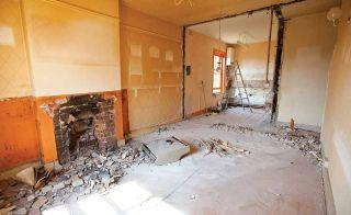 Renovation site interior