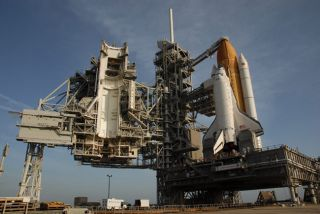 Space Shuttle Discovery Moves to Launch Pad