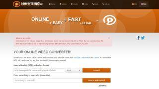 Convert2mp3.net screen grab
