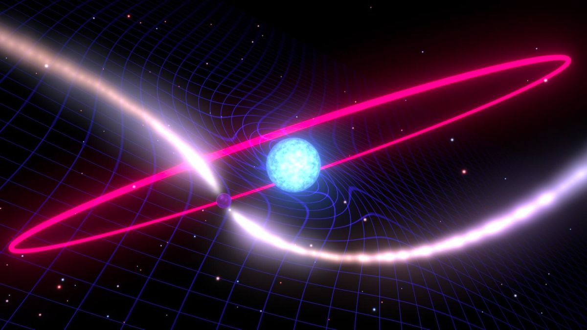 Space-time is swirling around a dead star, proving Einstein right again