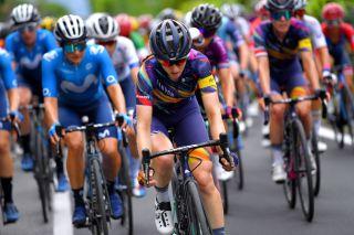 Canyon-SRAM's Alexis Ryan during the Giro Donne