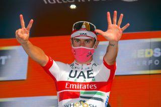 Giro d'Italia 2020 - 103th Edition - 2nd stage Alcamo - Agrigento 149km - 04/10/2020 - Diego Ulissi (ITA - UAE - Team Emirates) - photo Dario Belingheri/BettiniPhoto©2020
