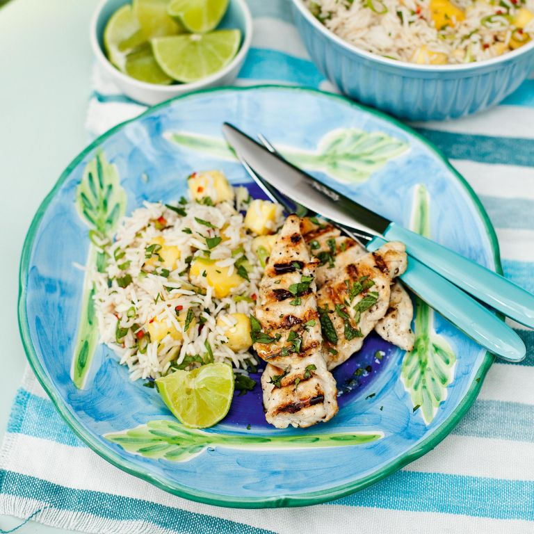 Fragrant Asian Salad With Chicken-woman and home
