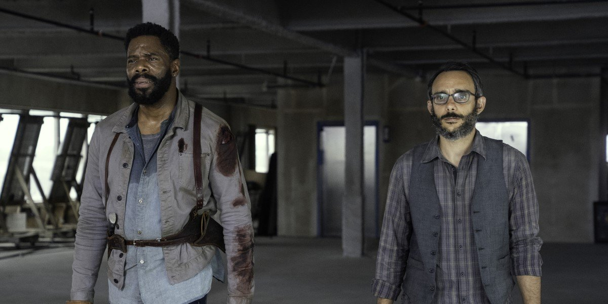strand and howard watching nuclear bombs go off in fear the walking dead season 6 finale