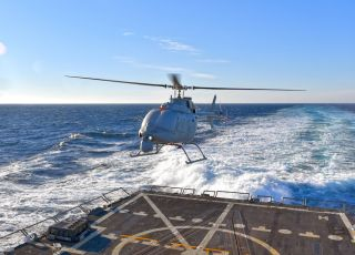 The new Navy helicopter drone — the MQ-8C.