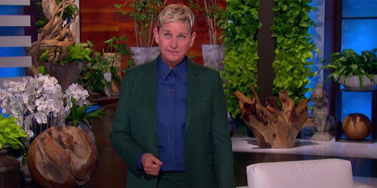 Ellen DeGeneres looking serious about retirement announcement