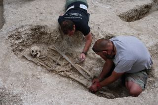 Saxon warrior burial