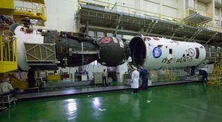 Soyuz spacecraft preparations