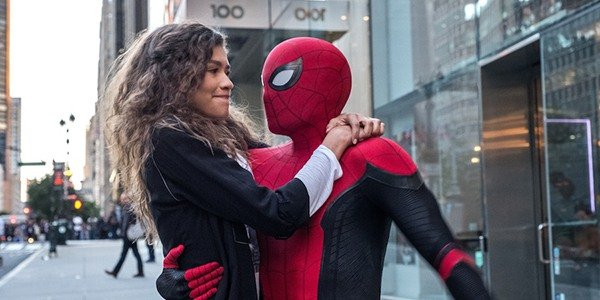 MJ and Spider-Man in Homecoming