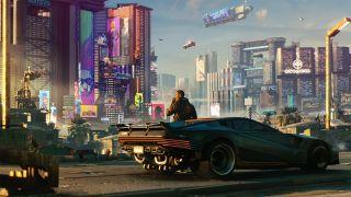 A teaser image for Cyberpunk 2077