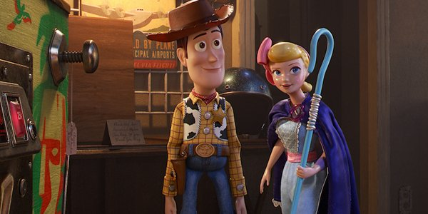 Woody and Bo in Toy Story 4