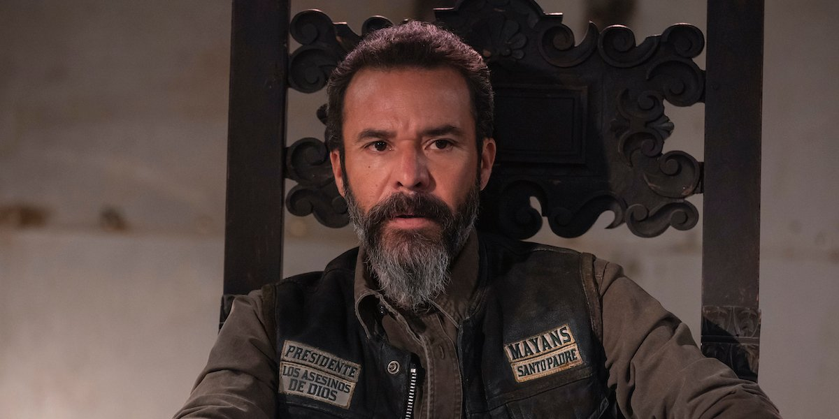 bishop at the head of the table on mayans m.c.