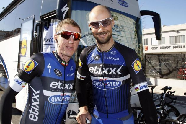 Dan Martin and Tom Boonen  Stage 2 of the 2016 Tour of Valencia