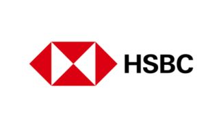 2018 HSBC logo with a darker hexagonal graphic and a san-serif font