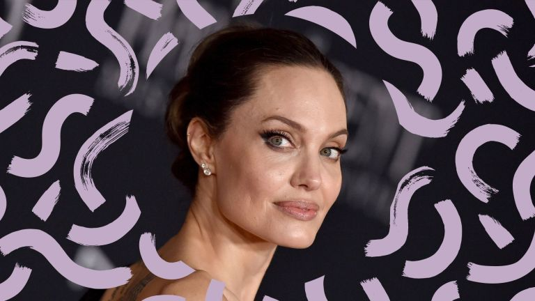 cat eye makeup tutorial main image with angelina jolie on the red carpet