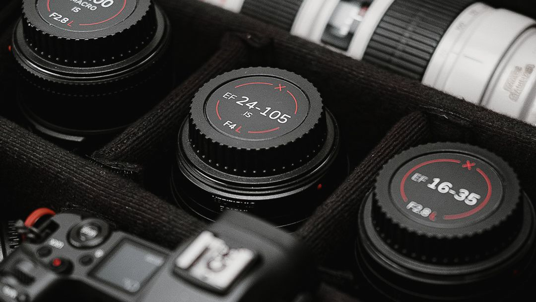 Sick of getting the wrong lens out of your camera bag? Try these lens cap indicators