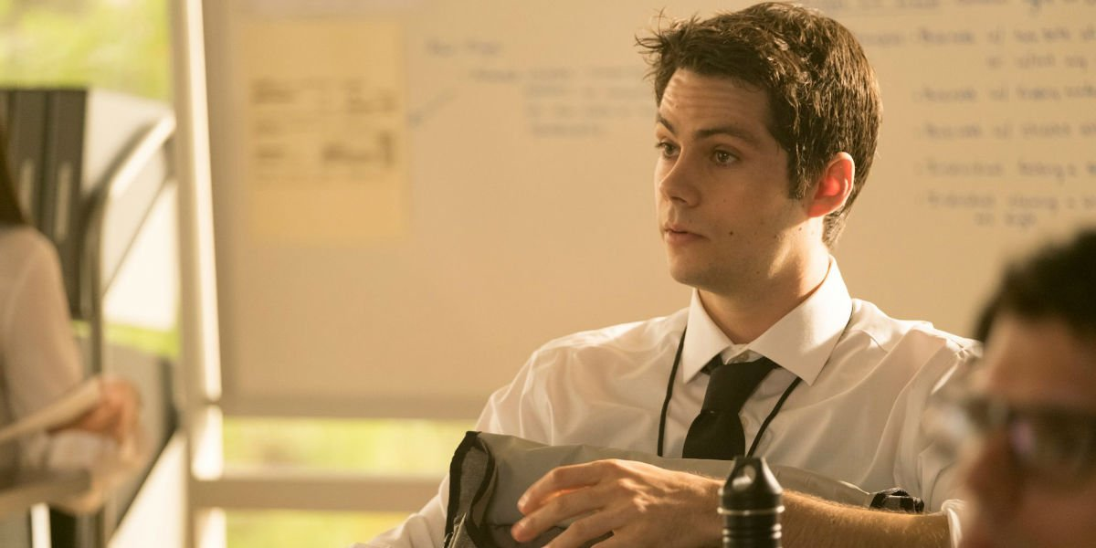 Dylan O'Brian as Stiles in Teen Wolf.