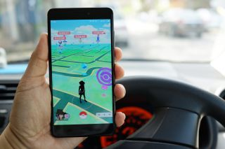 pokemon go driving map augmented reality car