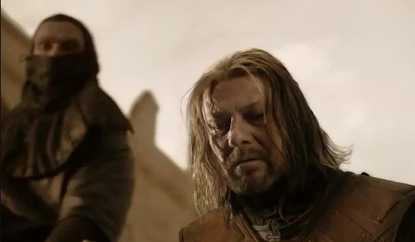 Ned Stark loses his head on HBO's Game Of Thrones