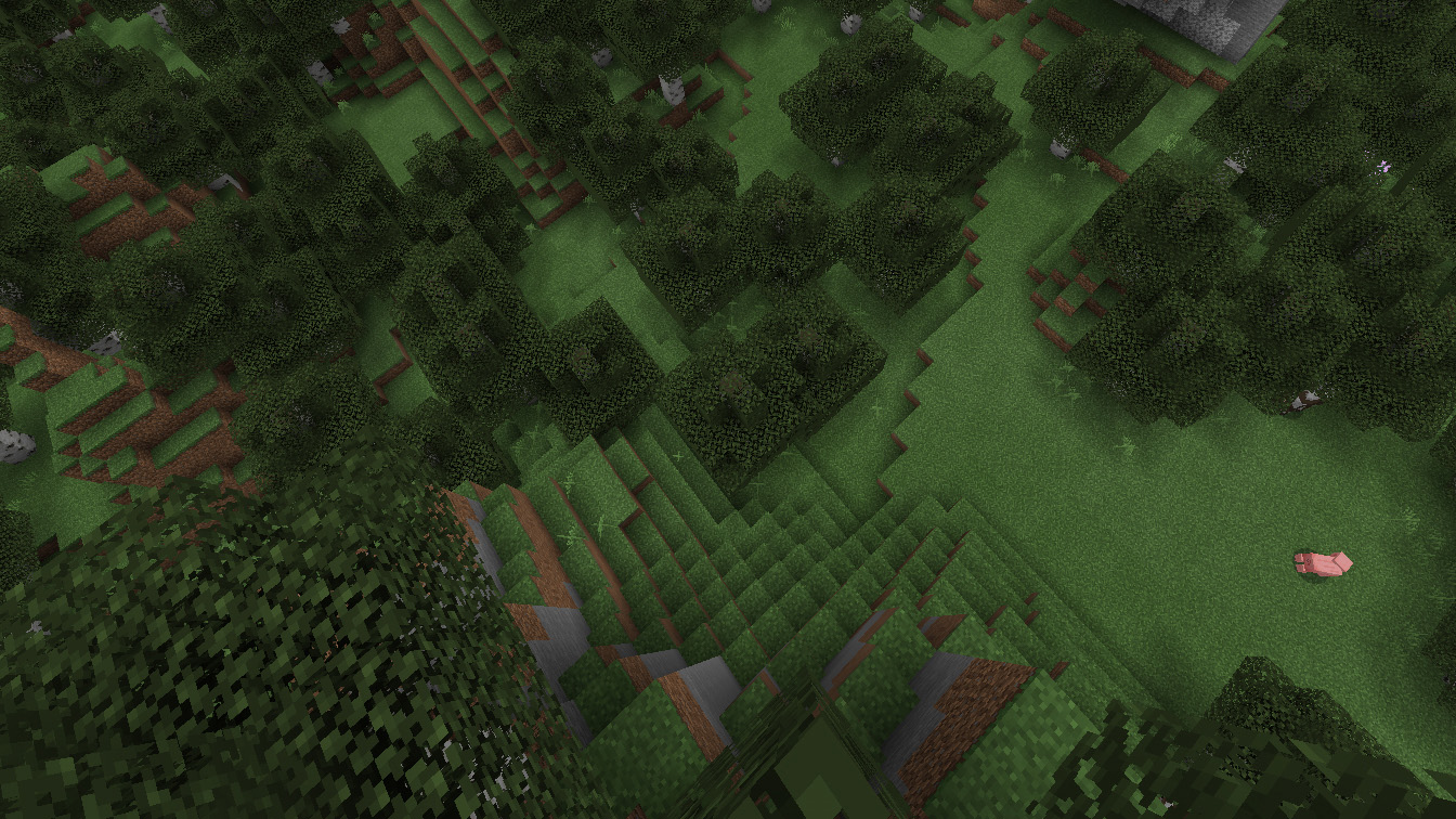 A top-down screenshot of the Minecraft x PlayStation VR port in action.