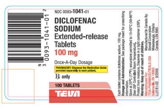 Diclofenac Sodium label