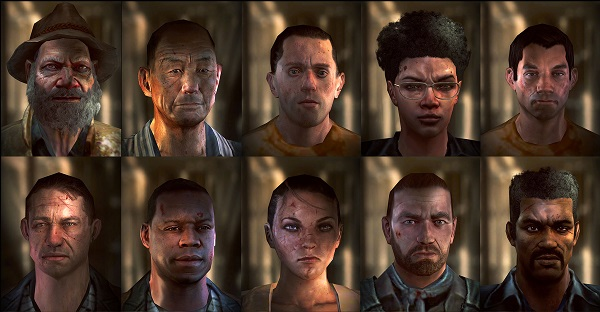 Walking Dead: No Man's Land characters