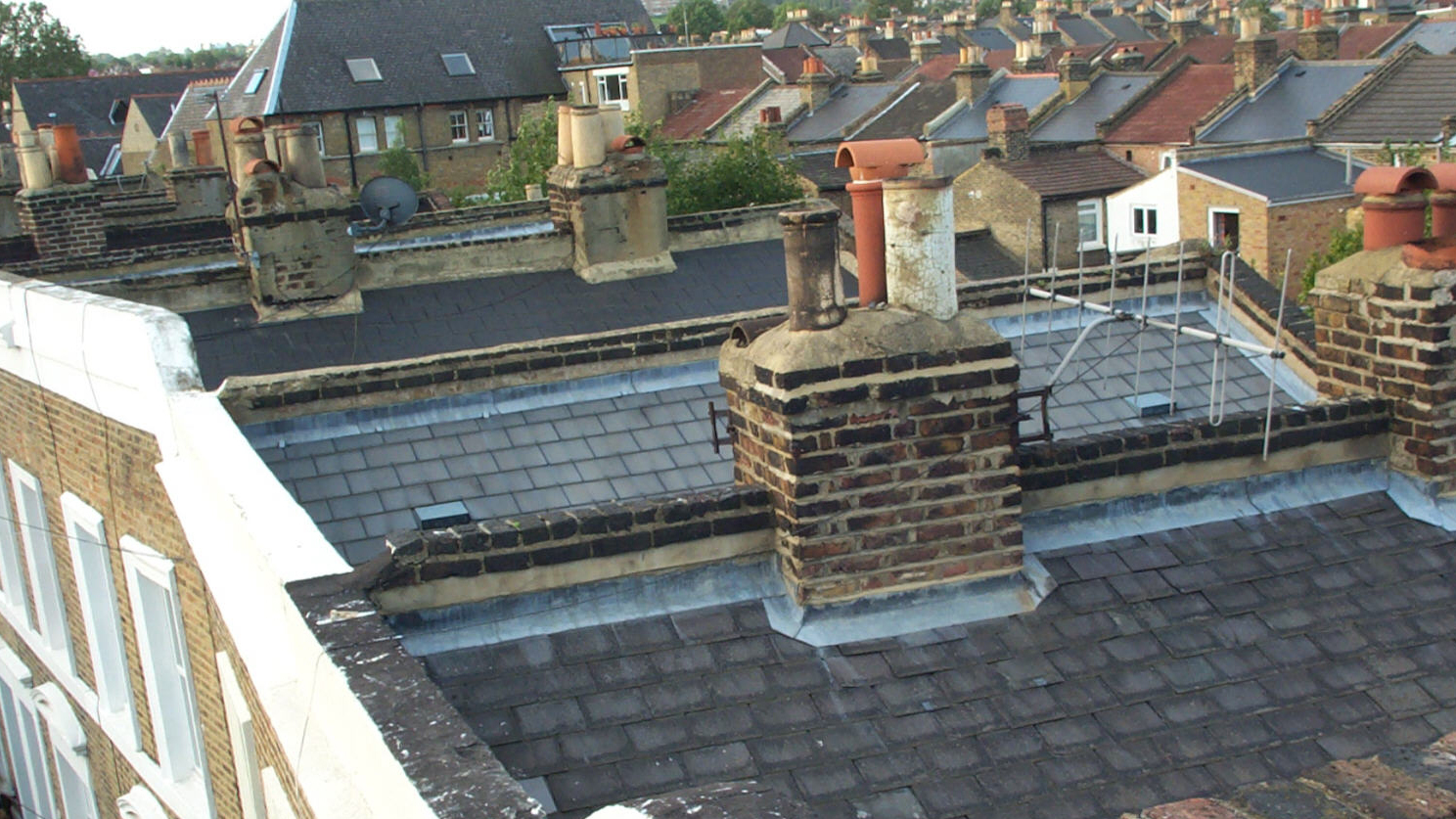 patch roof after removing chimney