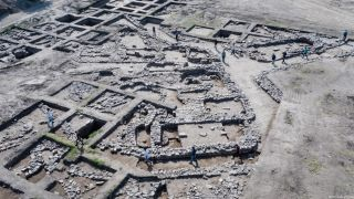 Archeologists discovered an ancient city north of Tel Aviv replete with both public and residential buildings, alleys, streets, artifacts and a temple