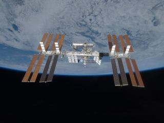 Considering its tenure in space, the International Space Station is surprisingly dust-free. Credit: NASA
