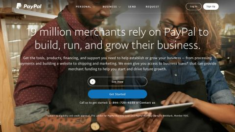 PayPal credit card processing