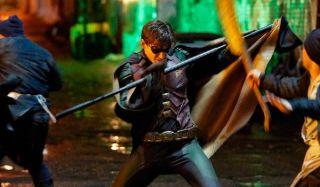 titans dick grayson's robin fighting