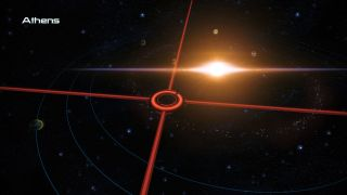 An asteroid belt in the Athens system