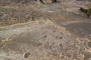 Kilauea footprints