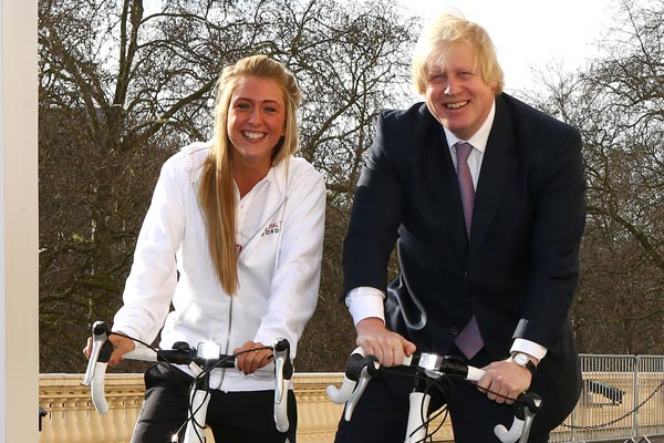 Mayor of London Boris Johnson and Laura Trott launch Prudential RideLondon