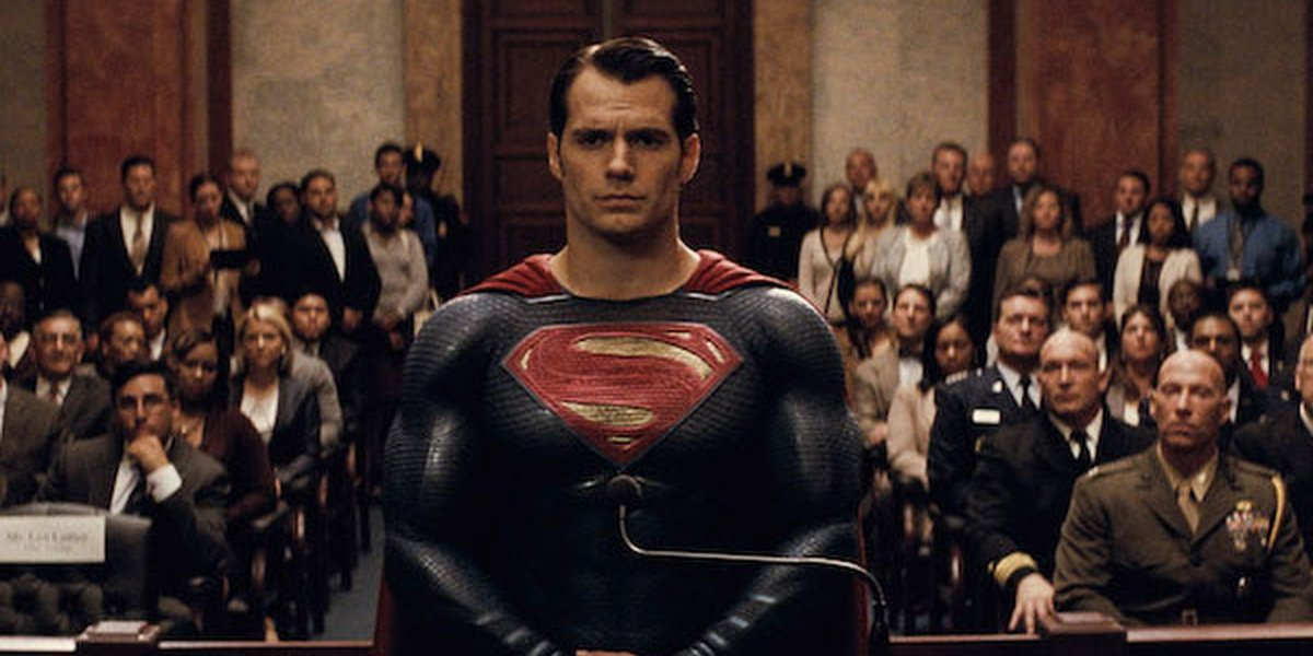 Henry Cavill's Superman stands trial in Batman v Superman: Dawn of the Justice