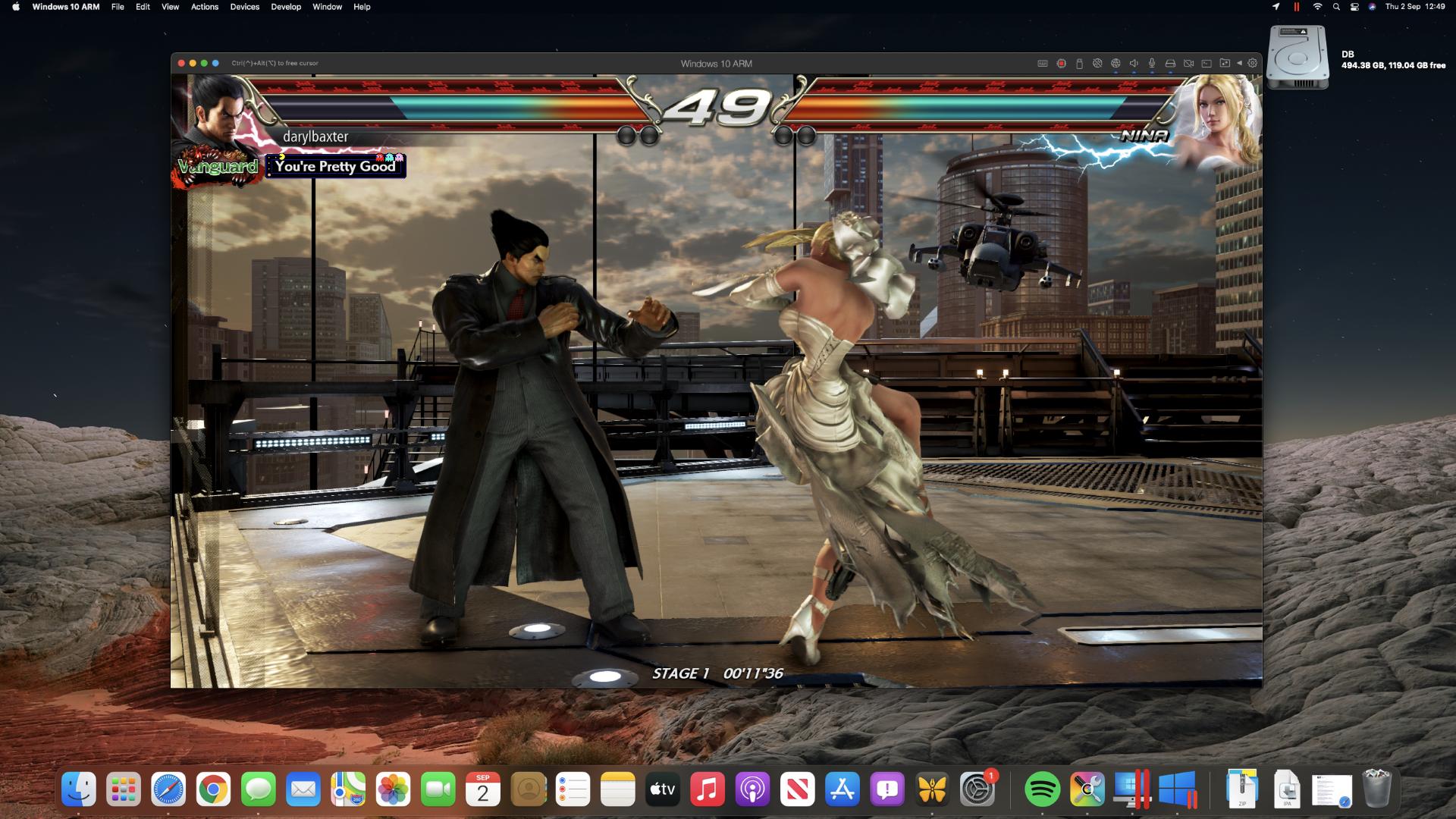 Tekken 7 on an M1 Mac mini through Steam
