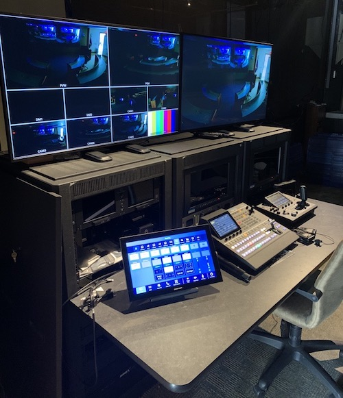 MITRE's control room in Bedford, MA.