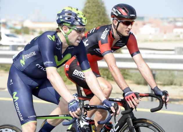 Alex Dowsett and Steven Cummings on stage three of the 2014 Dubai Tour