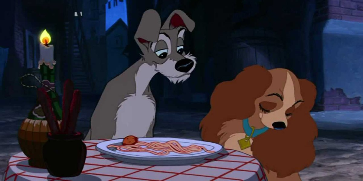 Lady and the tramp spaghetti and meatballs screenshot