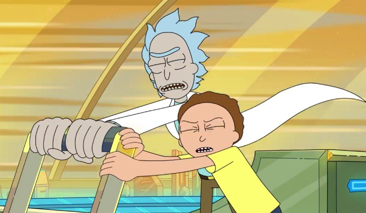 Rick and Morty fighting to survive Adult Swim
