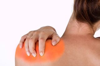 shoulder pain, muscle pain, soreness, woman