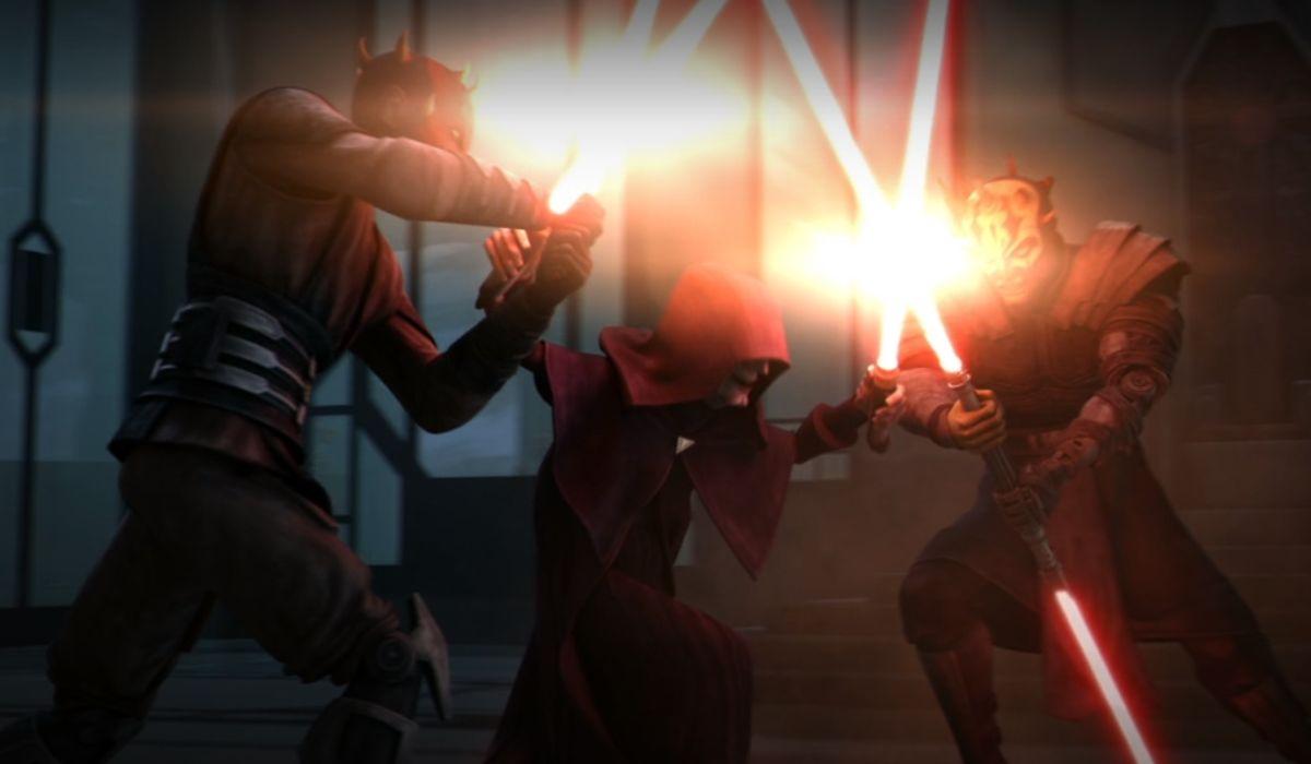 Maul and Savage vs Sidious on The Clone Wars