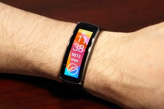 The Samsung Gear Fit smartwatch