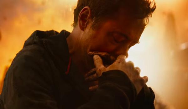 Avengers: Infinity War Tony Stark looking sullen on Titan