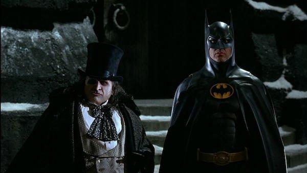 Danny DeVito as Penguin and Michael Keaton as Batman in Batman Returns