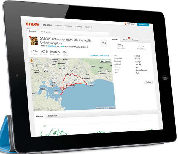 Social fitness with Strava