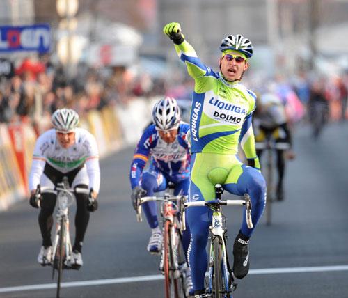 Peter Sagan wins, Paris-Nice 2010, stage three