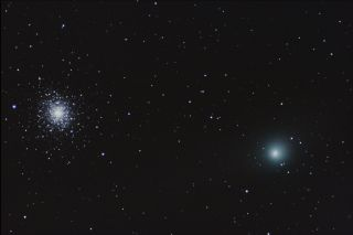 Comet Garradd & Star Cluster M92