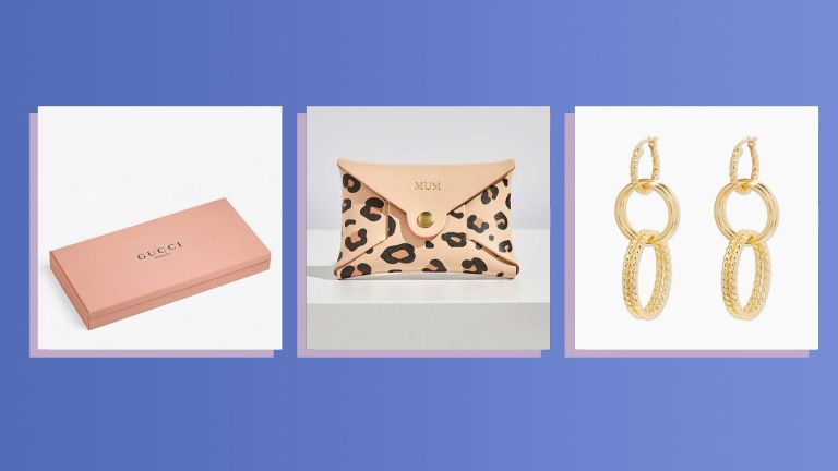 Three of the best Christmas gifts for her 2021 from Gucci, Etsy, and Gorjana shown side by side