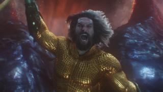 Jason Momoa in Aquaman's final battle